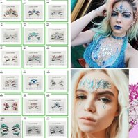 Wholesale Diamond Sticker Bohemia Style Glitter Crystal Tattoo Stickers For Women Face Forehead Paster Wedding Decorations styles F0095