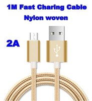 Wholesale Top quality M FT nylon USB Charging Cable For Smart Phones Samsung HTC LG Micro USB iphone typec Wire With Aluminum Alloy Head Plug