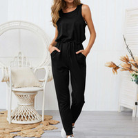 Wholesale full size womens clothing resale online - Women Designer Rompers Pants New Arrival Fashion Women Summer Sleeveless Jumpsuits Casual Womens Tops Clothes Size S XL