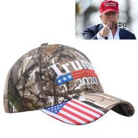 coole babyhäkeln großhandel-Stickerei-Trumpf 2020 machen Amerika groß wieder Donald- Trumpbaseballmütze-Hut-Baseballmütze-Erwachsen-Sport-Tarnung Hut