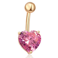 Wholesale hot navel chain for sale - Group buy SHUANGR New Hot Silver Gold Color Navel Belly Button Ring Rhinestone Bar Heart Star Belly Piercing Body Jewelry For Women Girls