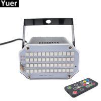 ingrosso guscio di alluminio-Alluminio Shell 48 LED più luminoso DJ Disco Sound attivato Laser Proiettore Stroboscopico Flash RGB Illuminazione per effetti di luce Lampada da tavolo