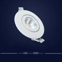 ingrosso cob led dimmerabile da incasso downlight-10pcs 10w 20w 30w 40w di riduzione luminosità regolabile Cob Gimable rotazione Led Tronco incasso orientabile da incasso luce di soffitto dell'interno