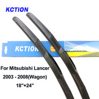 Wholesale wiper blade arms resale online - Windshield hybrid front wiper blade for Mitsubishi Lancer windscreen rear wiper natural rubber car accessories Fit U Hook Arms