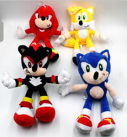 neuer schallheld großhandel-New Sonic Plüschtiere Sonic the Hedgehog Plüschtiere Puppen Igel Sonic Knuckles the Echidna Kuscheltiere Plüschtiere 25cm Kind-Geschenk