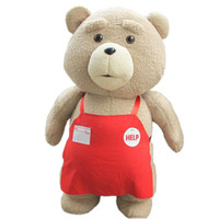 Wholesale big brown stuffed teddy bear resale online - Top Quality Cm TED Bear Dolls Original Soft Teddy Bear Stuffed Doll Plush Animals Plush Dolls Baby Birthday Gift Kids Toys