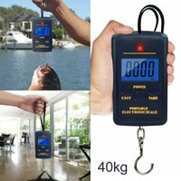 kancalı terazi toptan satış-40Kg Dijital Kanca Bagaj Balıkçılık Tartı Taşınabilir Havaalanı Elektronik Ev CCA11905 200pcs Scales Asma LCD Scales