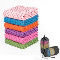 toalha de esteira de ioga antiderrapante venda por atacado-Tapetes cobertor retangular sofá tapete espessamento yoga mat toalha superfície de microfibra cobertor anti-derrapante 2019 nova YSY400-L