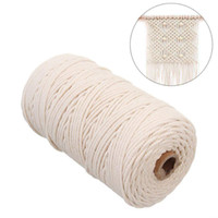 домашние изделия ручной работы оптовых-2mmx200m Macrame Cotton Cord for Wall Hanging Dream Catcher Rope Craft String DIY Handmade Home Decorative supply