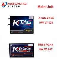 kess v2 master großhandel-Haupteinheit KTAG Ecu Programming Tool V2.23 V7.020 Meister KESS v2 2,47 V5.017 Unbegrenzte Token-freies Verschiffen