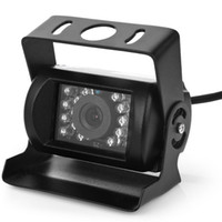 Wholesale rear view camera ir led resale online - Black LED Anti Fog IR Night Vision Waterproof Car Rear View Reverse Backup Camera DC V Input for V Cars degree wide