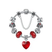 европейский оптовых-2019 New Arrivals Red Heart Charms Murano Glass Bead Fit European Pan Bracelets&Bangles For Women Jewelry Fashion Gift berloques