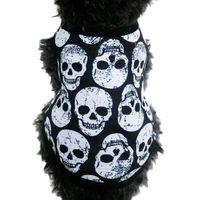 köpek giysileri satmak toptan satış-Sıcak Satış Pamuk Kafatası Pet Yelek Giyim Köpek Giyim Cadılar Bayramı Kostüm Honden KLEDING Köpek Giyim Pet Giyim