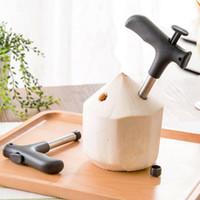 herramientas de corte de agua al por mayor-Abrelatas de la herramienta de coco Agujero de paja de perforación de agua de coco joven Agujero de paja Taladro Corte abierto WMP