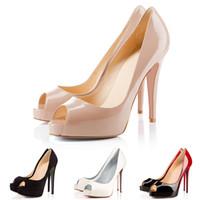 ingrosso pompe a tacchi alti-Designer di marca di lusso Tacchi alti in pelle verniciata a punta Scarpe da donna Bottoms Red Bottoms 12CM 14CM Abito da sposa scarpe Dance Party 35-42