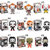 Wholesale character toys resale online - Funko POP Clown toys Movies Saw Stephen King It Joker Clown Character PENNYWISE PVC dolls toys Furnishing articles best Gifts B1