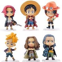 eine figurine großhandel-Neueste 6 Teile / los One Piece figur Mini PVC Action-figuren Die 71. Generation Modell Sammlung Spielzeug Figur