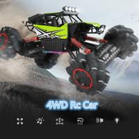 4wd дрейфующие автомобили оптовых-2.4 Г 4WD Пульт Дистанционного Управления Rc Drift Car Climb внедорожник гоночный автомобиль RTR Buggy Drift Игрушка с гуляющей музыкой легкий подарок