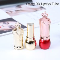 Wholesale crown cosmetics resale online - Hot DIY Crown Cap Empty Lipstick Tubes Tools Makeup Container Bottle Cosmetic Tools