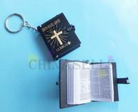 anillo de dios al por mayor-Artesanía del Evangelio cristiano en inglés, mini biblia llavero, día de Dios, útiles escolares, premios, llavero, recuerdo, fiesta, regalos de navidad