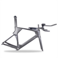 Wholesale time trial bikes for sale - Group buy High quality Full Carbon fiber Time Trial Bicycle Frame Warranty Years Carbon TT Bike frame fork seat post and handle bar