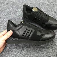 zapatos de mariposa de los hombres al por mayor-cuero genuino unisex Mujeres y hombres Zapatos casuales camo / butterfly v stud sneakers diseñador celeb fashion Zapatos planos 7dgh