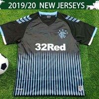 рейнджеры оптовых-2020 Rangers FC Away Футбольная майка 19/20 Glasgow Rangers Away Black # 10 ДЭВИС # 14 КЕНТ # 9 DEFOE Продажа футбольной формы