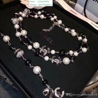 Wholesale imported jewelry necklace for sale - Group buy Top Designer Luxury Diamond Long Necklace High end Pearl Necklace Women S Imported Crystal Necklace k Gold Brooch Jewelry