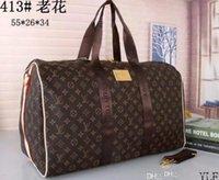 equipaje s al por mayor-nueva moda para hombres y mujeres bolsa de viaje bolsa de lona, diseñador de la marca bolsa de equipaje bolsa de deportes de gran capacidad 55 cm * 28 cm * 35 cm