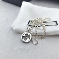 ingrosso i monili della catena dell'ottone per la vendita-G lusso superiore della collana di disegno di qualità 925 unisex della collana di alta argento paio Normativa monili della collana di modo del rifornimento selvaggio