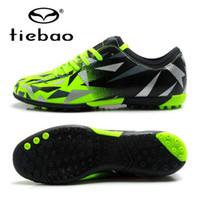 kızlar çocuklar futbol toptan satış-TIEBAO Futbol Ayakkabıları Futbol Cleats Çocuk Boyutu 30-36 TF Çim Sloes Sneakers Erkek Kız Açık Eğitim Çizmeler