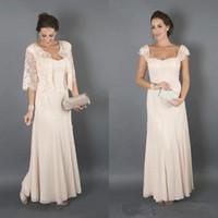 champagne mãe noiva vestidos casacos venda por atacado-Champagne elegante mãe dos vestidos de noiva com jaqueta de madrinha formal mulheres usam noite convidados do casamento vestido Plus Size