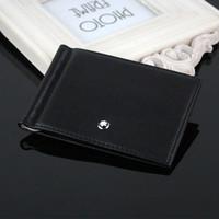 nouveau portefeuille hommes achat en gros de-Portefeuille pour cartes de crédit Mens Wallet Leather véritable portefeuilles de haute qualité avec porte-carte pince à billets New Men Purse marque Simple