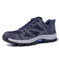 наружные защитные туфли оптовых-Men's Outdoor Steel Toe Cap Protective Safety Shoes Men Steel-Mid Sole Puncture Proof Work Shoes Breathable