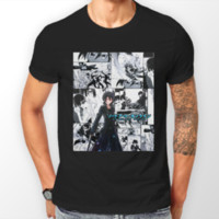 ingrosso free art strip-Sword Art Online Kirito Manga Strip SAO Anime Maglietta Unisex T-Shirt Tee ALL SIZE Uomo Donna Unisex Fashion tshirt Spedizione Gratuita nero