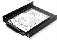 masaüstü için sabit disk toptan satış-1 ADET 2.5 ila 3.5 Inç SSD HDD Tutucu Metal Montaj Adaptörü Masaüstü PC SSD Sunucu Sabit Disk Için Braketi Dock tepsi