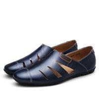 calçados casuais calçados venda por atacado-New Fashion Shoes Outono Casual Shoes grandes tamanho mens Shoes couro Tendência preguiçoso caminhada