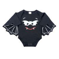 Wholesale birthday clothes for baby boy resale online - Halloween Bat Wig Romper For Baby Boy Girl Clothes Vampirina Newborn Print My First Birthday Leotard Little Kid Funny Jumpsuit Bodysuit