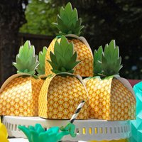 Wholesale hawaiian gifts for sale - Hawaiian Pineapple Party Candy Boxes Hawaiian Party Decorations Sweets and