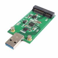 Wholesale msata ssd adapter resale online - Mini USB to PCIE mSATA External SSD PCBA Conveter Adapter Card