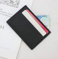 siyah küçük çanta toptan satış-Tasarımcı kart sahibinin cüzdan erkek bayan lüks kart sahibinin çanta deri kart sahipleri siyah çantalar küçük cüzdan çanta tasarımcısı 03974