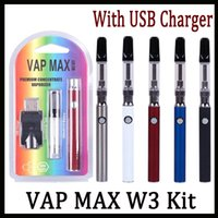 Wholesale vaporizer kits for oil for sale - Group buy Authentic Vap Max W3 Kit mAh Preheat VV Premium Vaporizer Pen with ml ml Ceramic Coil Cartridge for Thick Oil
