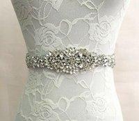 ingrosso le cinghie delle cinghie-100% fatto a mano accessori da sposa cintura di lusso 2019 moda strass ornamento abiti da sposa telai in magazzino