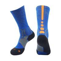 basketbol tüpü çorapları toptan satış-9705 2019 Yeni elite basketbol çorap ter emici kaymaz havlu çorap erkek basketbol çorap tüp içinde spor gelgit