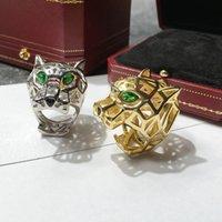 hermoso anillo nuevo al por mayor-hermoso anillo CAR4 nueva llegada de la manera anillos de acero inoxidable cabeza del tigre para los amantes de regalo romántico de la joyería el envío libre