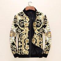 birleşik ceketler toptan satış-BestEurope ve Amerika Birleşik Devletleri 2019 yeni dış ticaret high-end yakışıklı erkek uzun kollu moda sıcak ceket erkek 607 58399555