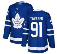ingrosso case d'acero-Maglietta Toronto Home Maped Leafs Blu, Personality 91 Tavares 16 MARNER 19 LUPUL 31 ANDERSEN 34 MATTHEWS 43 KADRI Maglia da hockey Jersey
