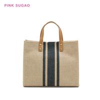 дизайнерские портфели женщин оптовых-Розовый Sugao Женщины сумки роскошные сумки дизайнер плеча сумки новая мода холст кошелек большой емкости сумка портфель сумки