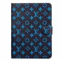 Wholesale tablet pc protective screen for sale - Group buy For Apple iPad Designer iPad Case Flip Wallet Monogram Printing Pu Leather Tablet PC Cases For Ipad Air Case