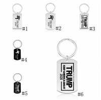 Wholesale key make resale online - Trump Keychains Pendant President Election Stainless Steel Keyring Keep Make America Great Key Chain Fashion Jewelry GGA3222